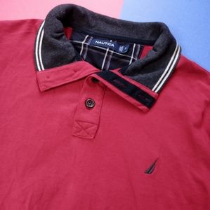 Nautica Essential Embroidered LongSleeve Polo